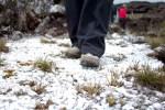 pisando em cristais, no topo do Monte Roraima