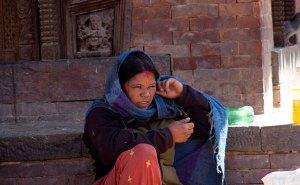 Mulher na Durbar Square, Kathmandu