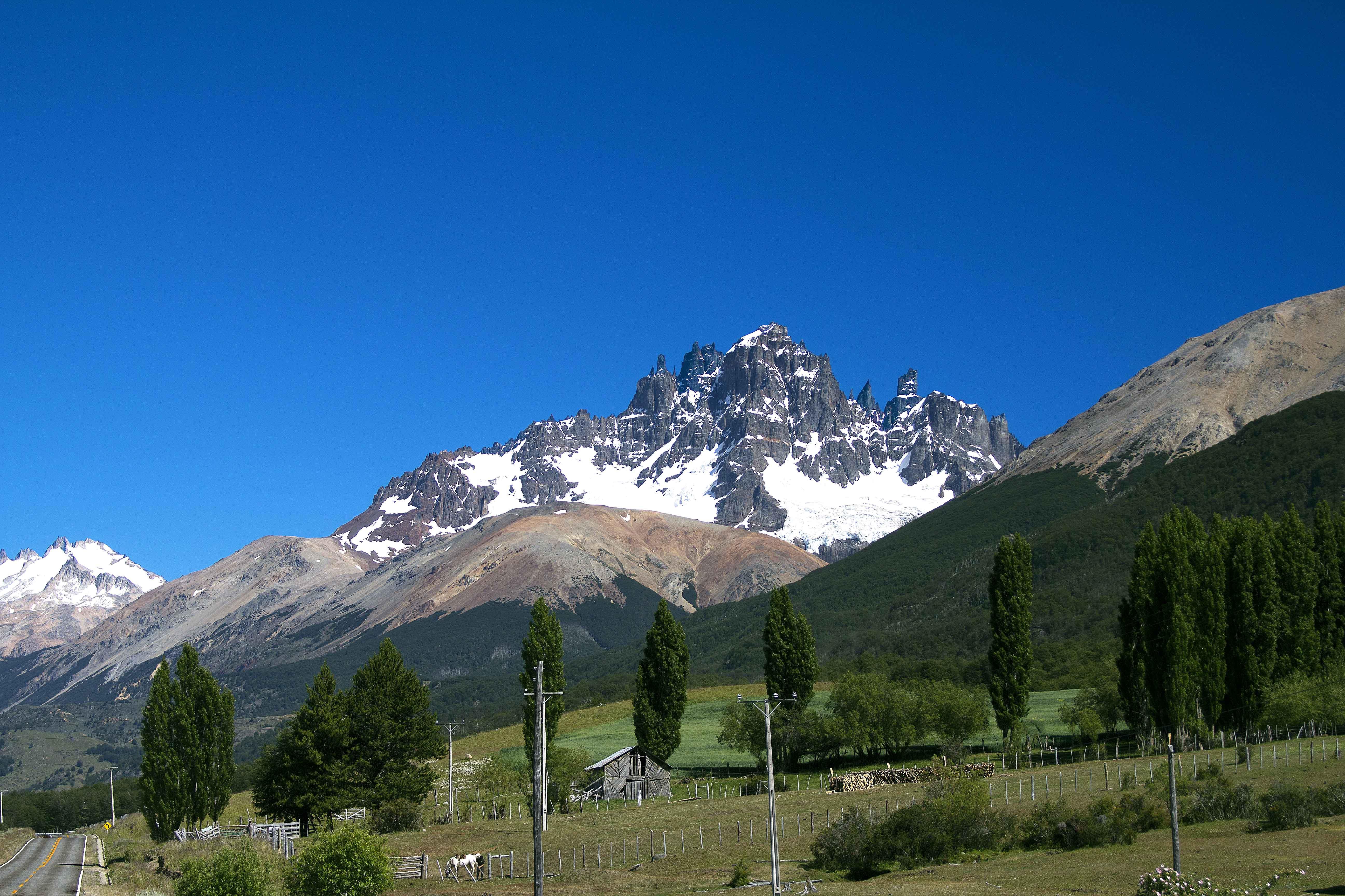 Cerro Castillo, visto da Carretera Austral